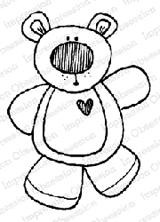 Impression Obsession - Ted E. Bear Cling Mounted Rubber Stamp By Lindsay Ostrom