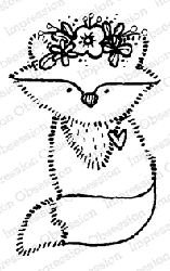 Impression Obsession - Fox Lady Cling Mounted Rubber Stamp By Lindsay Ostrom
