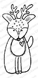 Impression Obsession - Deary Cling Mounted Rubber Stamp By Lindsay Ostrom