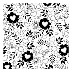 Impression Obsession - Cover A Card Floral Hearts Cling Mounted Rubber Stamp By Tara Caldwell