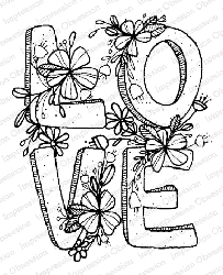 Impression Obsession - Love Squared Cling Mounted Rubber Stamp By Lindsay Ostrom