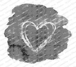 Impression Obsession - Heart Splash Cling Mounted Rubber Stamp By Alesa Baker