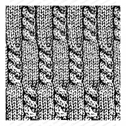 Impression Obsession - Cover A Card - Cable Knit Cling Mounted Rubber Stamp