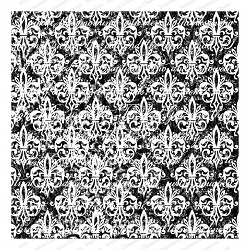Impression Obsession - Cover A Card Grunge Fleur-de-Lis Cling Mounted Rubber Stamp