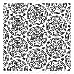 Impression Obsession - Cling Mounted Rubber Stamp - Cover A Card - Spirals