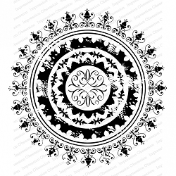 Impression Obsession - Cover A Card - Boho Mandala Cling Mounted Rubber Stamp