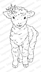 Impression Obsession - Cling Mounted Rubber Stamp By Gail Green - Little Lamb