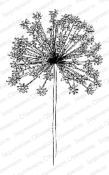 Impression Obsession - Cling Mounted Rubber Stamp By Tara Caldwell - Floral Burst