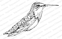 Impression Obsession - Cling Mounted Rubber Stamp By Tara Caldwell - Hummingbird