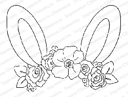 Impression Obsession - Cling Mounted Rubber Stamp By Alesa Baker - Floral Bunny ears