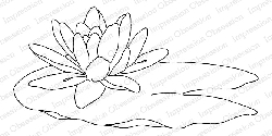 Impression Obsession - Cling Mounted Rubber Stamp By Alesa Baker - Peaceful Water Lily