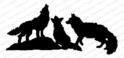 Impression Obsession - Cling Mounted Rubber Stamp By Gail Green - Coyotes Silhouette