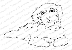 Impression Obsession - Cling Mounted Rubber Stamp By Gail Green - Happy Puppy