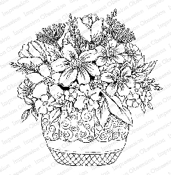 Impression Obsession - Cling Mounted Rubber Stamp By Tara Caldwell - Spring Bouquet
