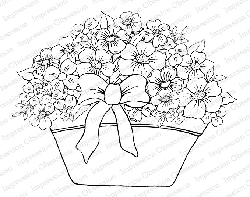 Impression Obsession - Cling Mounted Rubber Stamp By Tara Caldwell - Spring Flower Basket