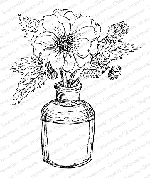Impression Obsession - Cling Mounted Rubber Stamp By Tara Caldwell - Sketched Vintage Bloom
