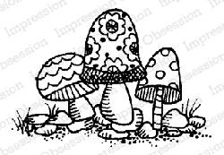 Impression Obsession - Fairy Stools Cling Mounted Rubber Stamp By Lindsay Ostrom