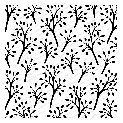 Impression Obsession - Cover A Card Beaded Branches Cling Mounted Rubber Stamp