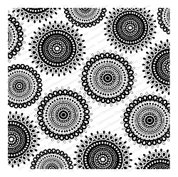 Impression Obsession - Cover A Card Spiral Tiles Cling Mounted Rubber Stamp