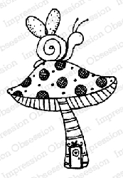 Impression Obsession - Fairy Snail Cling Mounted Rubber Stamp By Lindsay Ostrom