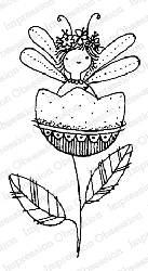 Impression Obsession - Fairy Cup Flower Cling Mounted Rubber Stamp By Lindsay Ostrom