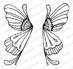 Impression Obsession - Fairy Wings Cling Mounted Rubber Stamp By Lindsay Ostrom