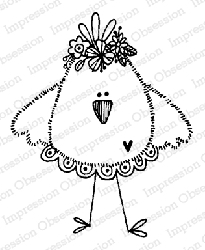 Impression Obsession - Chickie Mama Cling Mounted Rubber Stamp By Lindsay Ostrom