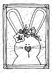 Impression Obsession - Bunny Block Cling Mounted Rubber Stamp By Lindsay Ostrom
