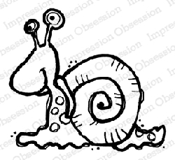 Impression Obsession - Snail Cling Mounted Rubber Stamp By Nola CHandler