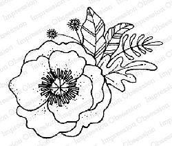 Impression Obsession - Flower Poppy Cling Mounted Rubber Stamp By Lindsay Ostrom