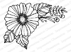 Impression Obsession - Flower Petunia Cling Mounted Rubber Stamp By Lindsay Ostrom
