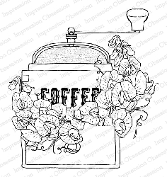 Impression Obsession - Sweet Pea Grinder Cling Mounted Rubber Stamp By Dina Kowal