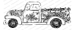 Impression Obsession - Spring Truck Cling Mounted Rubber Stamp By Lindsay Ostrom
