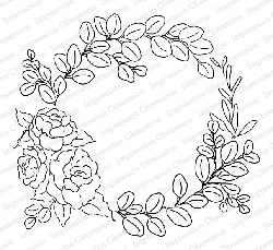Impression Obsession - Eucalyptus Wreath Cling Mounted Rubber Stamp By Alesa Baker