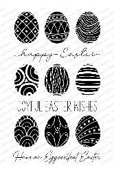 Impression Obsession - Clear Stamp - Eggscellent Easter