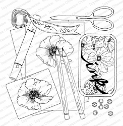 Impression Obsession - Stamping Supplies Cling Rubber Stamp By Dina Kowal