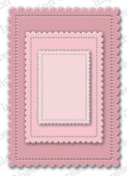 Impression Obsession - Die - Cute Scalloped Rectangles