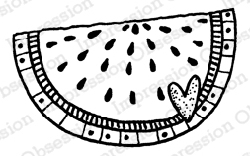 Impression Obsession - Melon Slice 1 Cling Mounted Rubber Stamp By Lindsay Ostrom
