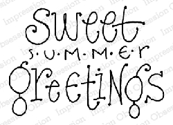 Impression Obsession - Summer Greetings Cling Mounted Rubber Stamp By Lindsay Ostrom