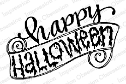 Impression Obsession - Happy Halloween Cling Mounted Rubber Stamp By Lindsay Ostrom