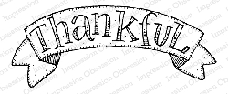 Impression Obsession - Thankful Banner Cling Mounted Rubber Stamp By Lindsay Ostrom