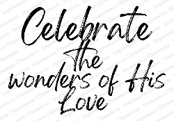 Impression Obsession - Celebrate His Love Cling Mounted Rubber Stamp By Alesa Baker