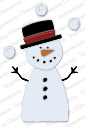 Impression Obsession - Die - Small Snowman