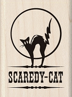 Inkadinkado - Wood Mounted Stamp - Scaredy Cat