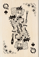 Inkadinkado - Wood Mounted Stamp - Witch Queen Playing Card