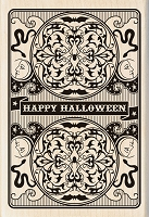 Inkadinkado - Wood Mounted Stamp - Halloween Playing Card