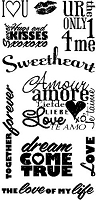 Inkadinkado - Clear Stamp Set - Words of Love