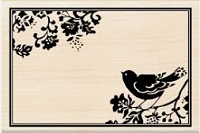 Inkadinkado - Wood mounted Stamp - Bird Frame