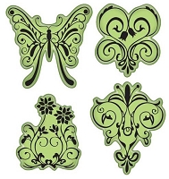 Inkadinkado - Stamping Gear Cling Stamps - Butterfly Garden