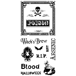 Inkadinkado Clear Stamps - Creepy Wine Labels